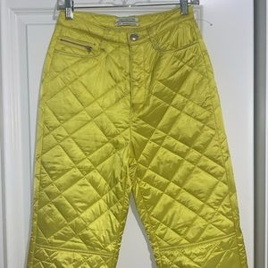 Unique quilted yellow urban outfitters pants